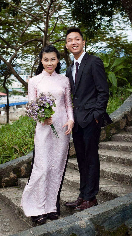 Cute guys posing for a wedding photo-shoot #Asia #Vietnam  #travel