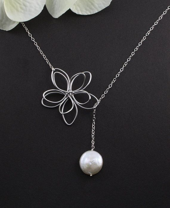 Sterling Silver Jewelry  Garden Moon Flower & by MenuetDesigns, $28.50