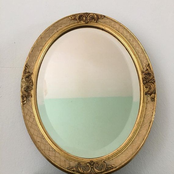 Antique vintage mirror french 1900 oval chique by VivaldiVintage