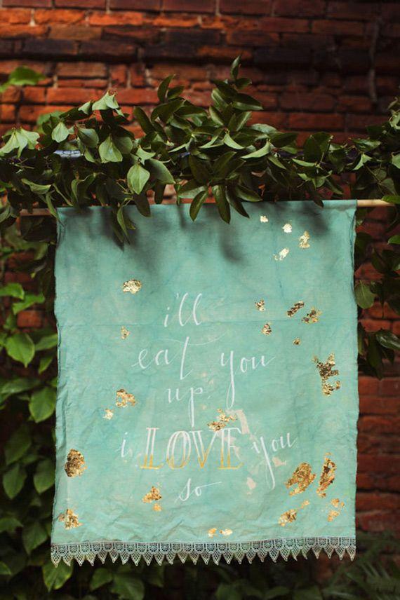 Aqua and gold wedding ideas