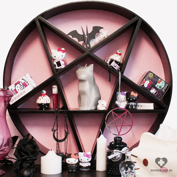 "beserkclothing: "" Decipher Designs - Pink Pentagram Shelf Shop now on + Beserk + """