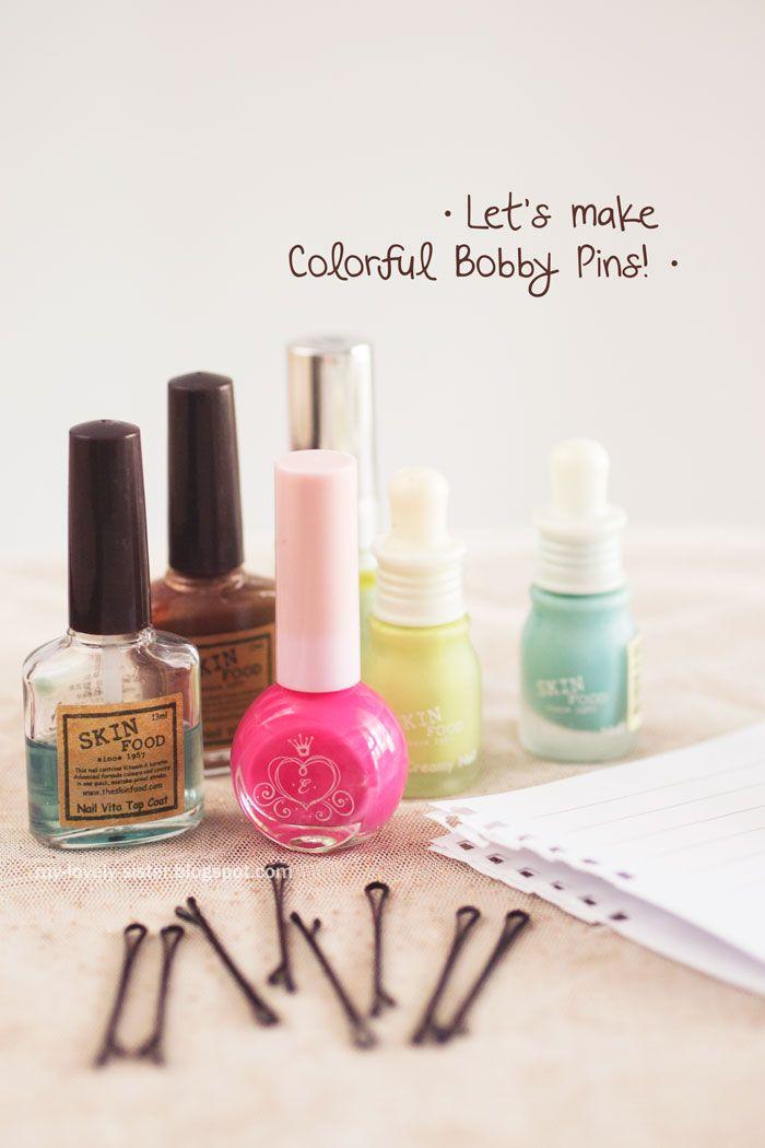 My Lovely Sister ♥ a blog with love: Thursday's Tips 37 : Membuat jepit rambut warna-warni