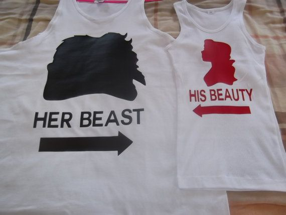 Disney Beauty & The Beast Couples TShirts by 4everBigRedCreations, $28.00