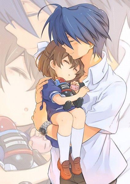 Tags: Anime, CLANNAD, Okazaki Tomoya, Okazaki Ushio, Ka-no