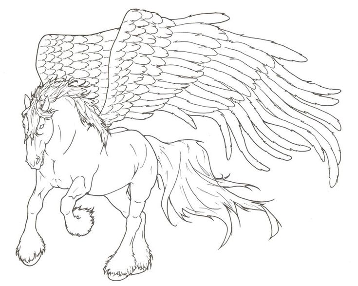 pegasus lineart by requay deviantart on deviantart