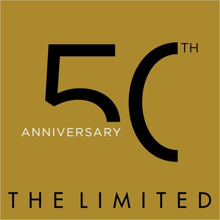 The Limited's 50th #Anniversary #Logo #graphicdesign