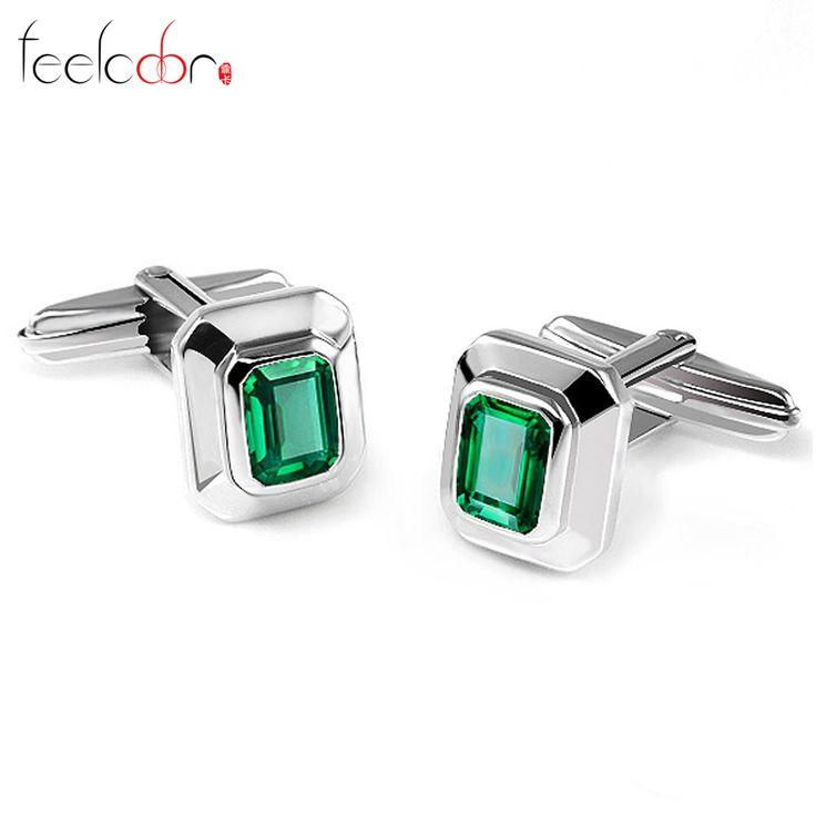 Nano russische emerald vintage manchetknopen voor mannen 925 massief sterling sliver unieke emerald cut fashion charm