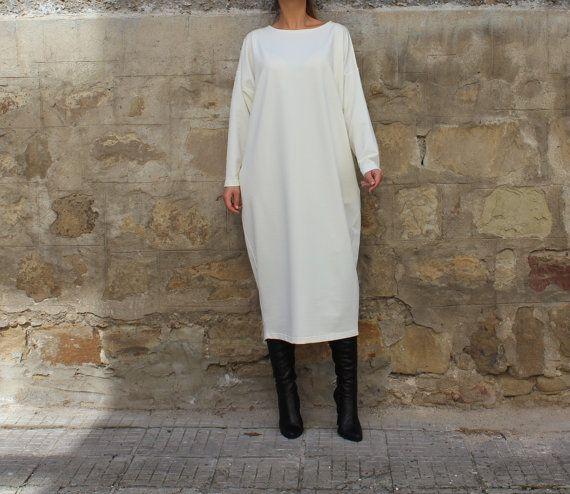 Off White Maxi Dress Kaftan Plus size dress от cherryblossomsdress