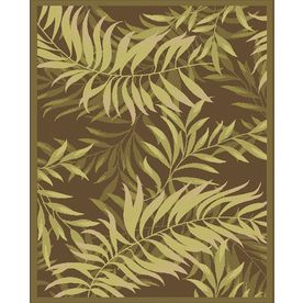 Palm Leaf X Rectangular Green Tropical Indoor Outdoor Area Rug