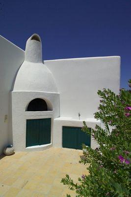 Great Outdoor, Cob, Barbeque, Flowers, Santorini