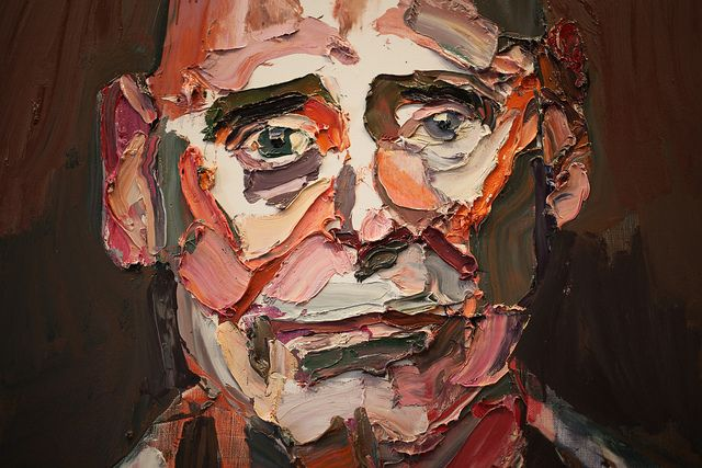 Ben Quilty (detail) Paintings from Ben Quility's exhibition as Australia's war artist. Portraits of soldiers that served in Afghanistan