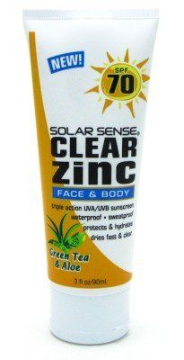 Solar Sense SPF# 70 Clear Zinc Face & Body 3 oz. Tube (3-Pack) with Free Nail File by Solar Sense. $35.99