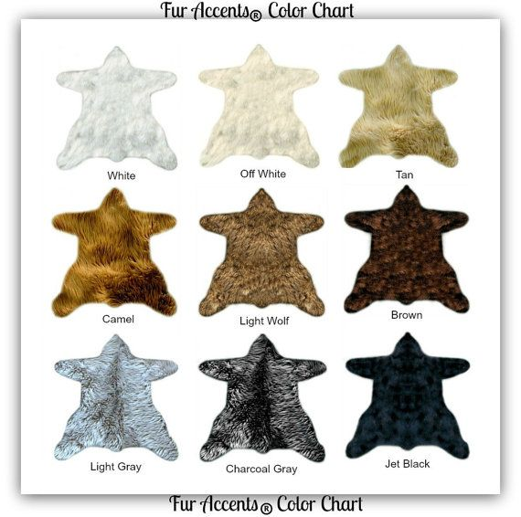 Faux Fur Bear Skin Rug - Thick - Soft and Realistic - 9 Great Colors and Sizes - Shaggy Soft - Shag - Designer Fur Rugs  Fur Accents USA
