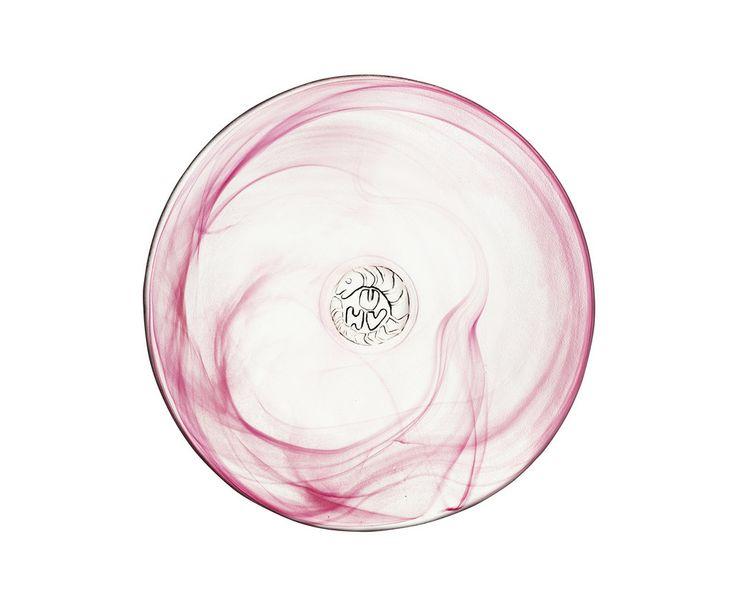 Mine Sideplate Pink, design by Ulrica Hydman Vallien for Kosta Boda