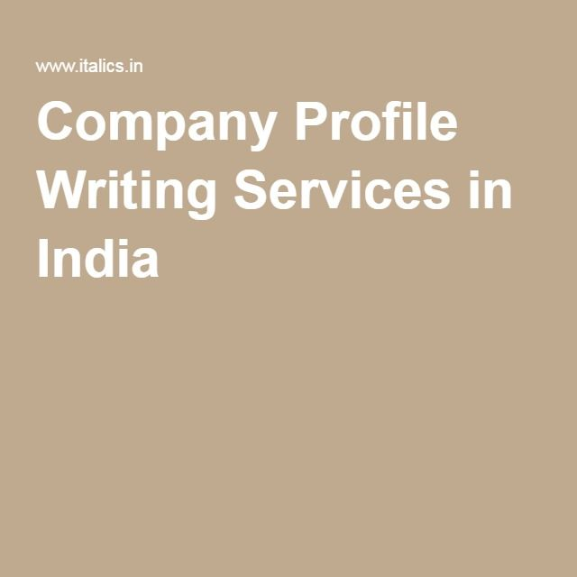 Company Profile Writing Services in India Company Profile - profile writing