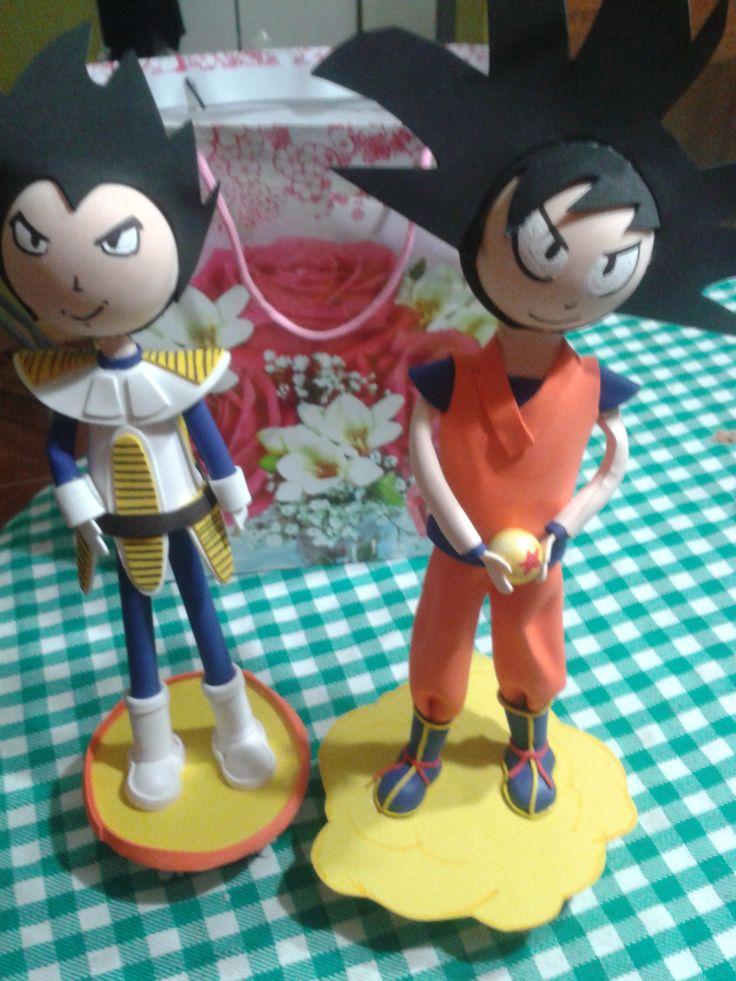 Fofu Dragon Ball torta de cumpleaños para hermanos