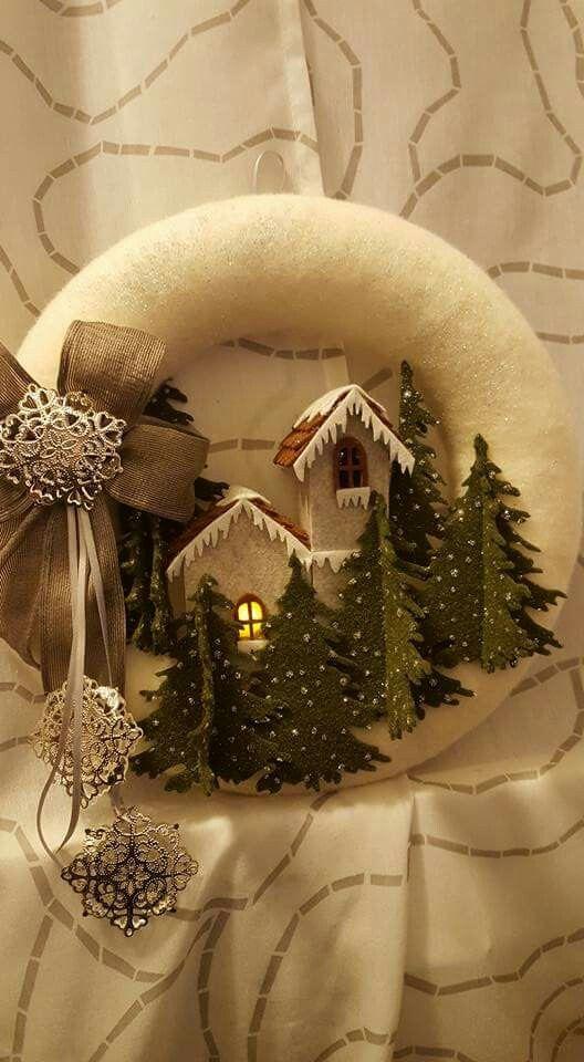 @Ghirlanda natalizia @Feltro e pannolenci