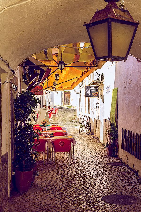 Street Cafe in Albufeira, Portugal | pinned by Western Sage and KB Honey (aka Kidd Bros) Repin & Like. Thank you . Listen to Noel songs. Noelito Flow.