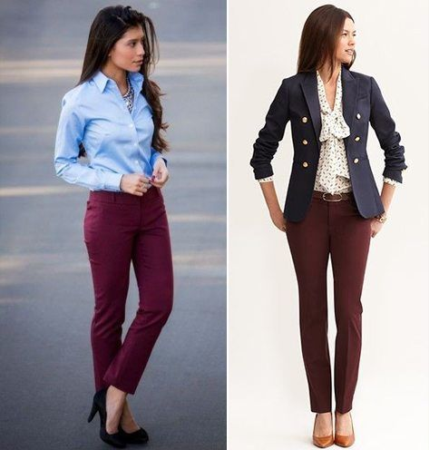 What To Wear With Maroon Pants Style Pinterest How And