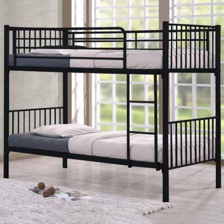 Κουκέτα μεταλλική BUNK (2 μονά κρεβάτια) 90x200εκ. E8041