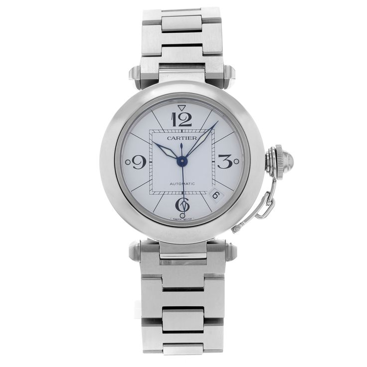Cartier Pasha W31074M7 Stainless Steel Automatic Ladies Watch