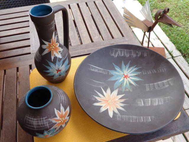 Carstens Tönnieshof - Keramik-Trio - 50er Jahre Dekor  | eBay