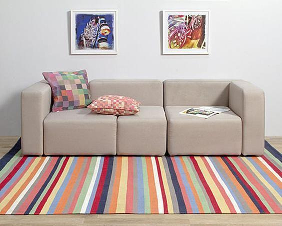 Blog Tapeti | Usando tapetes coloridos sem medo de errar