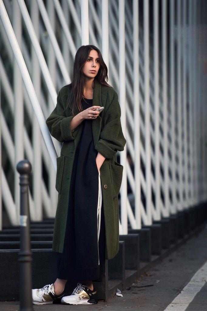 the long green topper. #ElisabettaDiMaso in Milan.