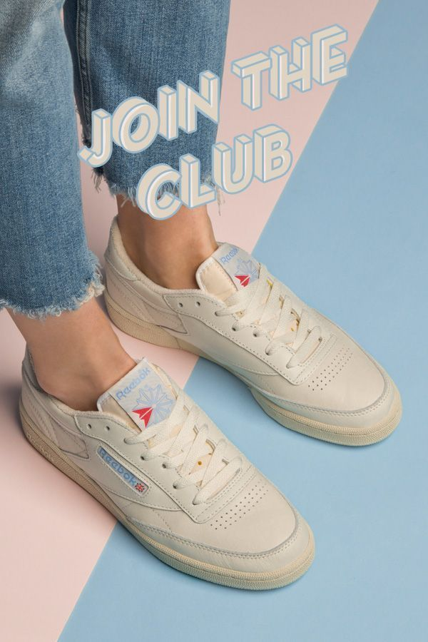 reebok club c 85 vintage stone trainers #80SFashionTrends