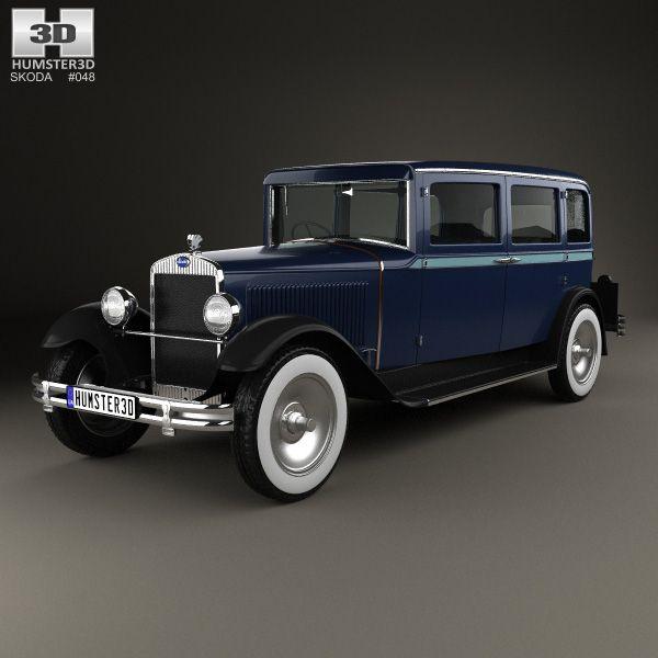 Skoda 645 Limousine 1930 3d model from Humster3D.com.