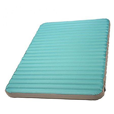 Kelty Tru.Comfort Camp Bed Double-Wide Inflatable Sleeping Pad is an incredibly comfortable 12 cm thick and 145 cm wide pad for car camping, a great value for the price. #sleepingpads #camping #carcamping #outdoors #outdoorequipment #campingbed