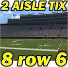 #Ticket  2 AISLE ROW 6: North Carolina @ Florida State Seminoles FSU Football 10/01 8row6 #deals_us