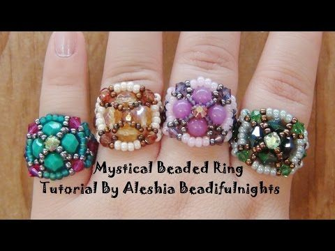 Mystical Beaded Ring Tutorial - YouTube