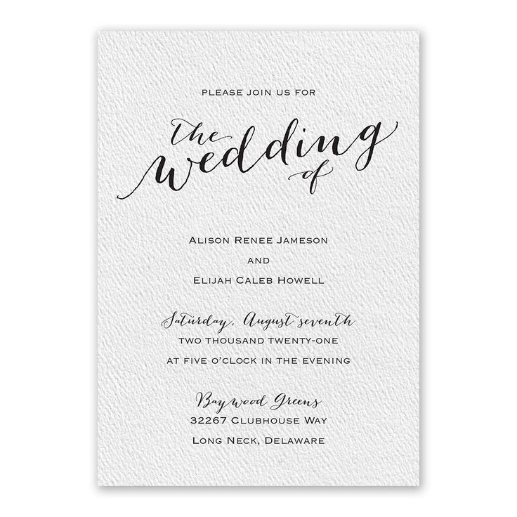 A Playful Font Introduces Your Wedding Details In The Graceful And  Lighthearted Manner Youu0027ve