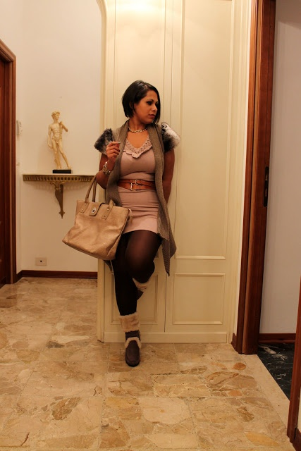 EIDesign Glamour: NEW IN Furry dress