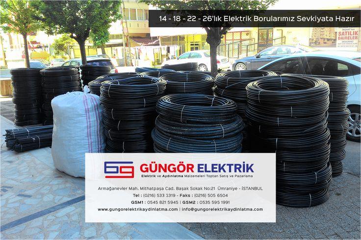 Elektrik Boruları 14 - 18 - 22 - 26 mm.