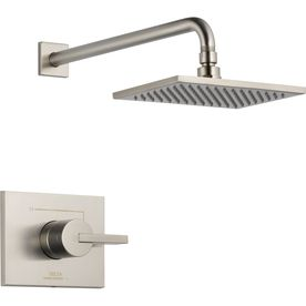Delta Vero stainless 1-Handle shower faucet with rain showerhead