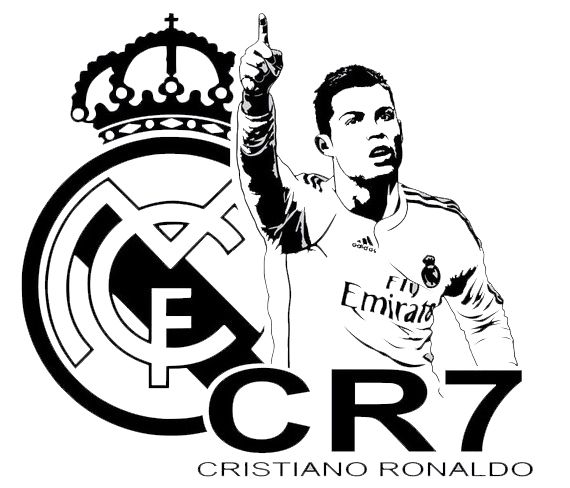 Cristiano Ronaldo Soccer Player Real Madrid Coloring Page Cristiano Ronaldo Ronaldo Real Madrid