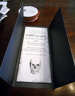 The V Spot: Make cute Halloween party invitations for pennies (& without any real supplies or effort...)