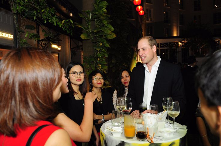 """Kensington Palace on Twitter: """"The Duke meets #Vietnam's young arts, civil society and business leaders at a reception at the British Embassy @UKinVietnam"""