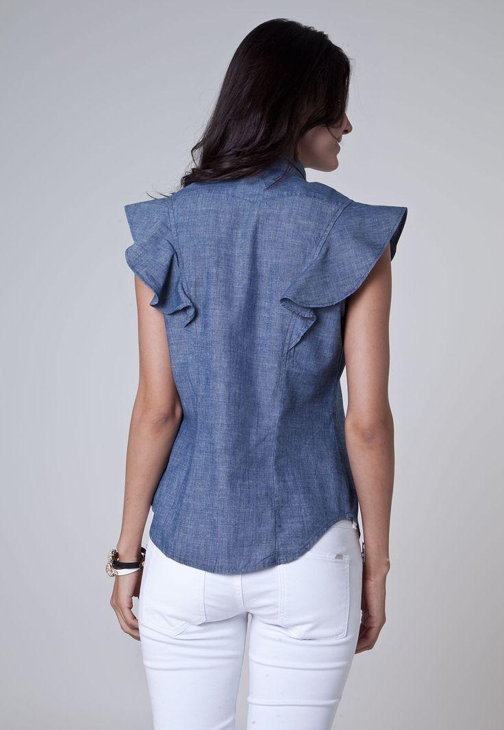 Camisa Jeans Levis Jabô Azul - Marca Levis