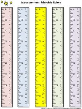 Measurement Tools: Printable Rulers (9 Inches and 22 Centimeters) - King Virtue's Classroom  Never run out of rulers again! Use this item to print rulers (inches and centimeters) for your students. These are great for math, science, and other classroom activities. Starting your unit on measurement? Send a ruler home with each student! Simply copy them on cardstock and laminate them for extra durability.