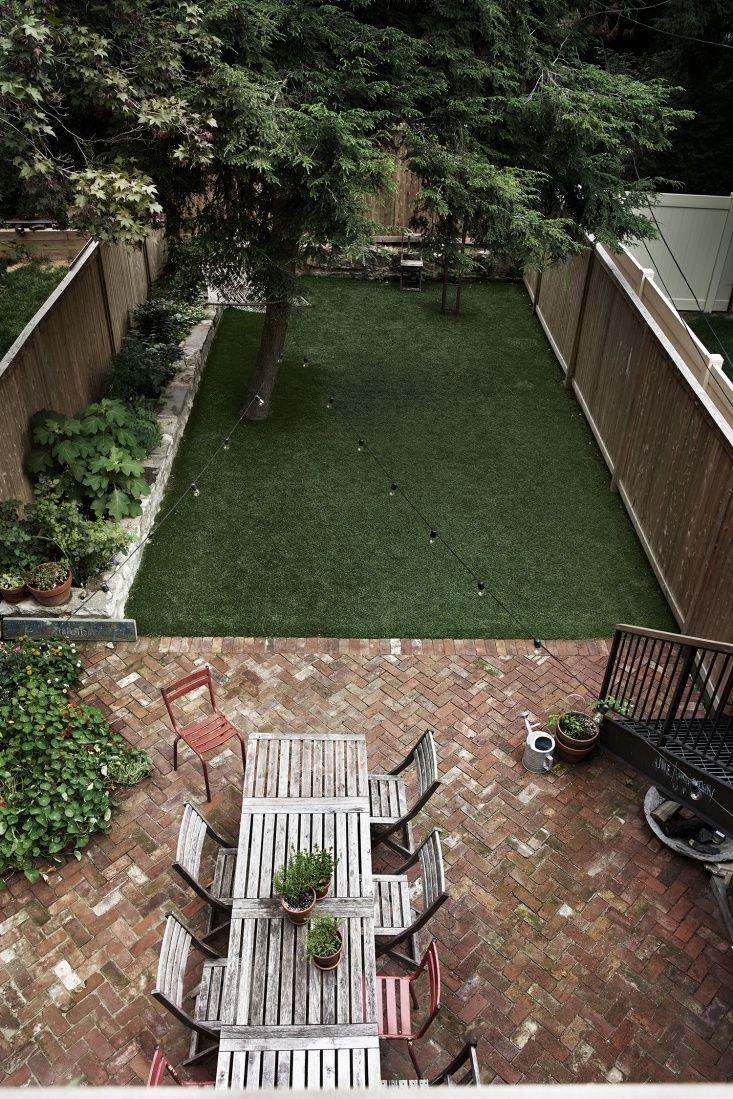 Pin On Landscape And Gardens Townhouse backyard ideas no grass