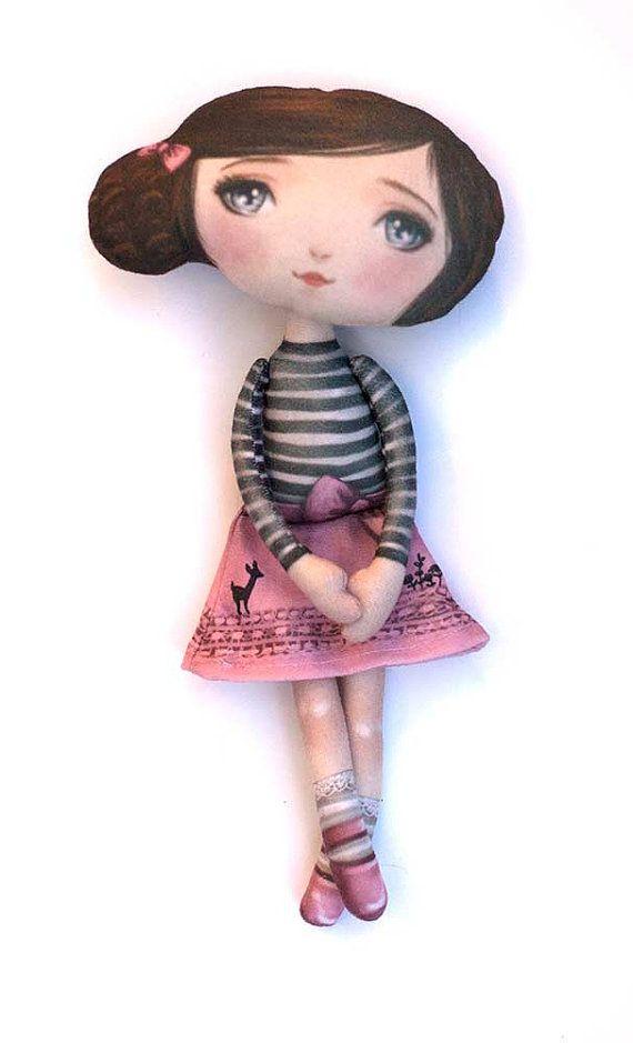 Penelope Hart patrón de muñeca de tela estampada por selinafenech