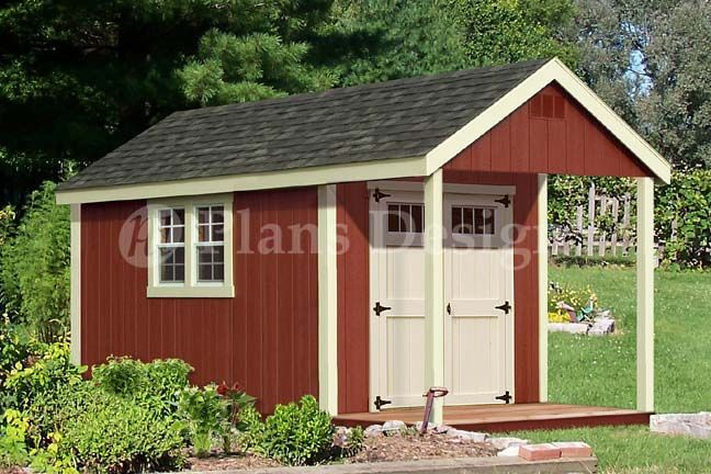 Design p61408 14 39 x8 39 loft porch shed plans roof style for Shed with porch