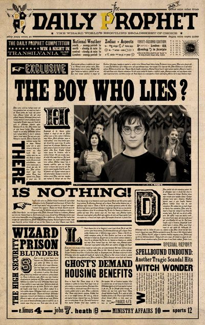Daily Prophet: the Boy Who Lies by ~jhadha