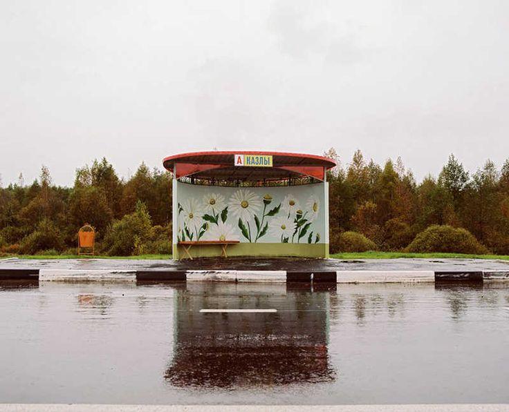 Painted bus stops in Belarus