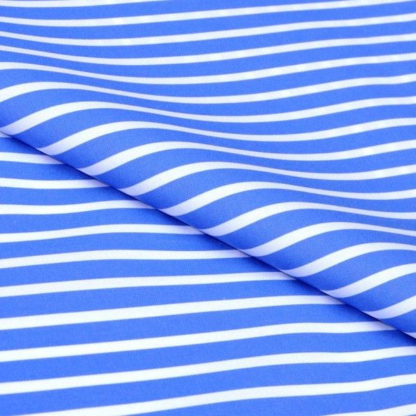 Blue Royal Bengal Stripes Giza cotton shirting fabric in 2 ply 100s yarn count. Build your own custom shirt and get it delivered free to your doorstep anywhere in the world.