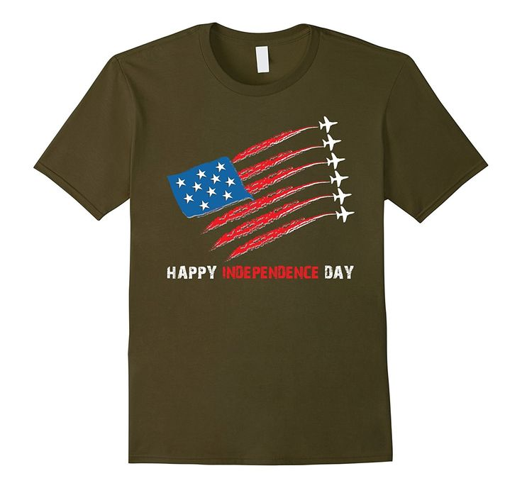 Happy Independence Day Flag Airplane T-Shirt