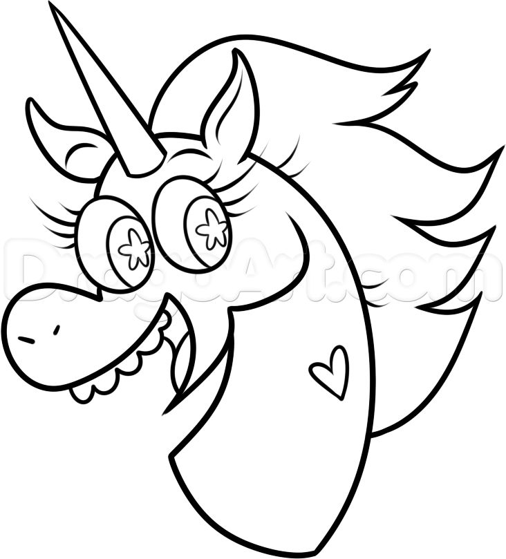 How To Draw Pony Head From Star Vs The Forces Of Evil Step 8 ButterflyCake PartyStar PartyColoring SheetsHoliday
